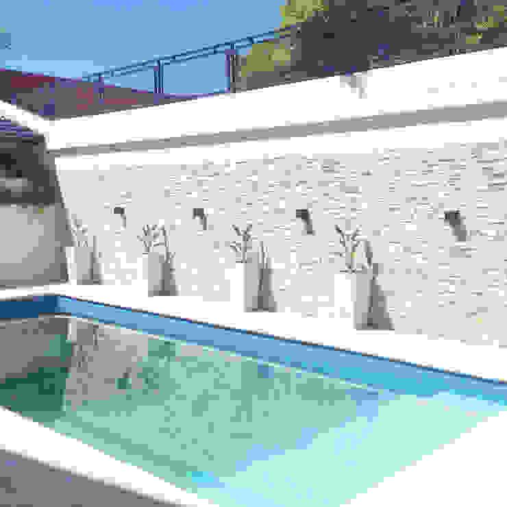 Piscinas de estilo moderno de Estudio Nicolas Pierry: Diseño en Arquitectura de Paisajes & Jardines Moderno