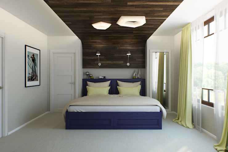 Минималистичный лофт: Спальни в . Автор – Center of interior design,