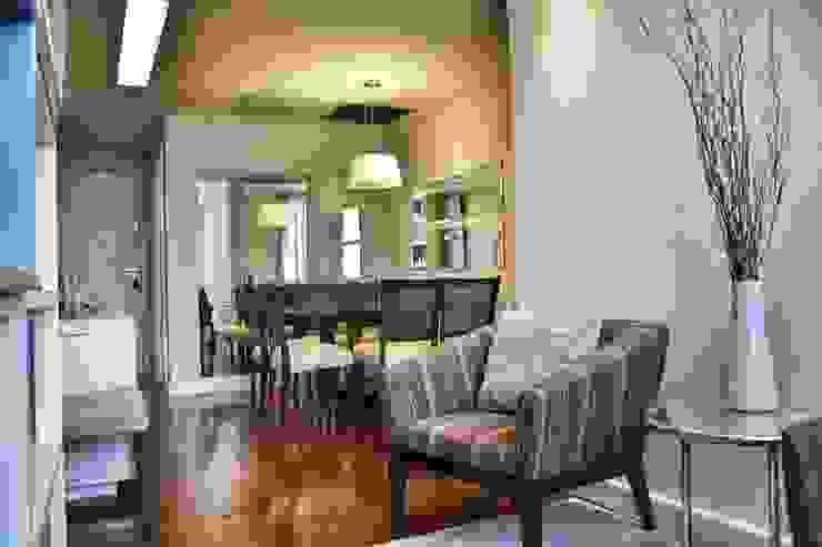 Antes e Depois apartamento Gávea, RJ Salas de jantar modernas por ARQUITETURA - Camila Fleck Moderno