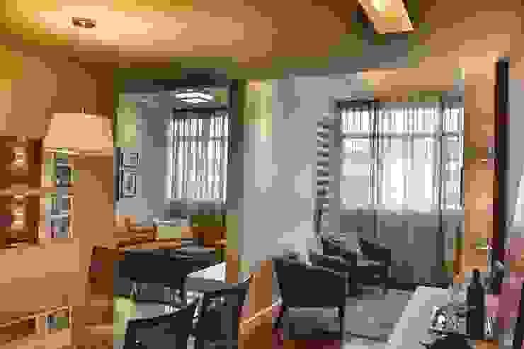Antes e Depois apartamento Gávea, RJ Salas de estar modernas por ARQUITETURA - Camila Fleck Moderno