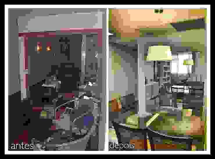Antes e Depois apartamento Gávea, RJ por ARQUITETURA - Camila Fleck Moderno
