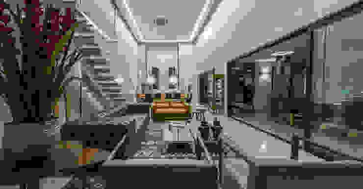 Living Salas de jantar modernas por RABAIOLI I FREITAS Moderno
