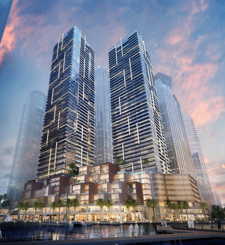 The Residences at Marina Gate, Dubai, by Aedas Modern houses by Architecture by Aedas Modern