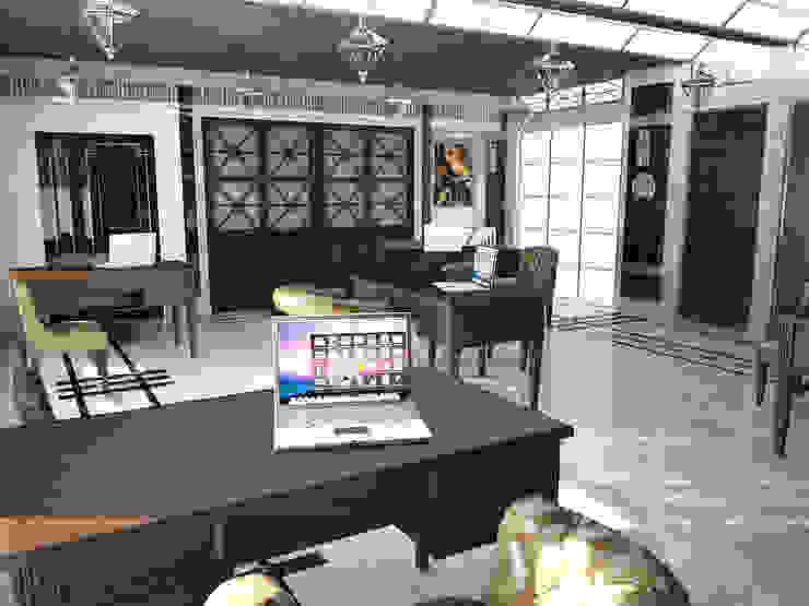 Вариации на тему <q>ар-деко</q> Офисные помещения в стиле модерн от МИД | мастерская интерьерного дизайна Модерн