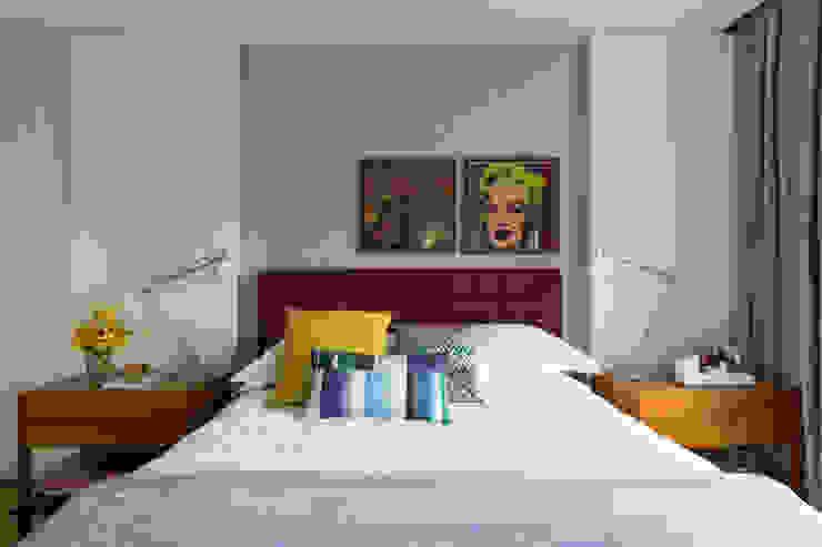 Panamby Apartment Quartos modernos por DIEGO REVOLLO ARQUITETURA S/S LTDA. Moderno