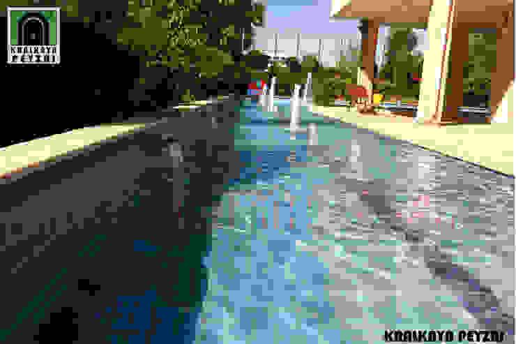 Kralkaya Peyzaj Havuz Fıskiye Sist. ve Pompa Mim. Müh. İnş. Ltd. Şti Mediterranean style pool