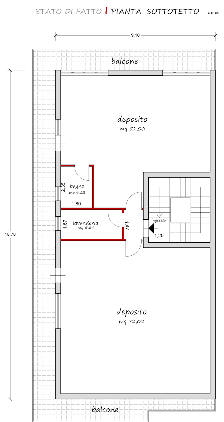 stato di fatto francesca ravidà architetto | interior designer Soggiorno eclettico