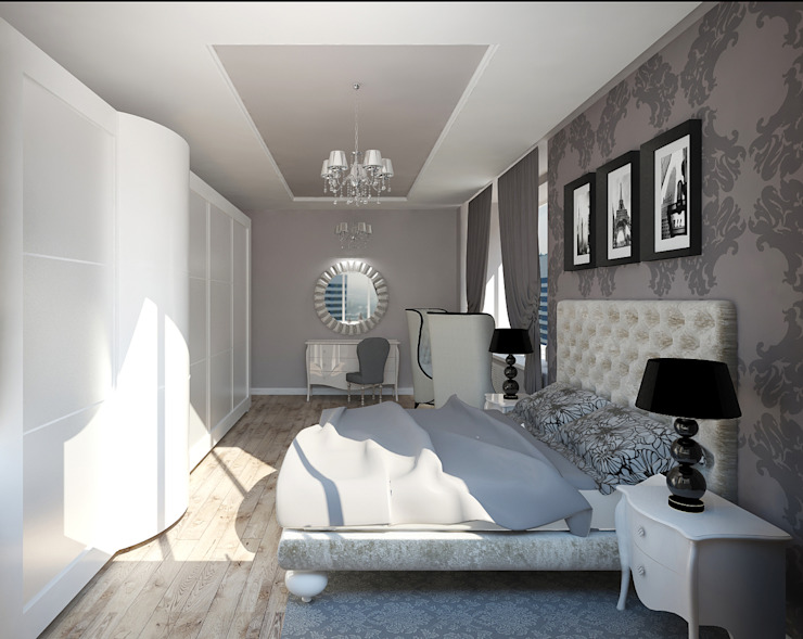 Eclectic style bedroom by ООО 'Студио-ТА' Eclectic