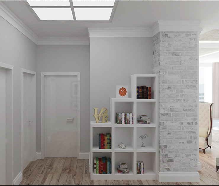 Eclectic style corridor, hallway & stairs by ООО 'Студио-ТА' Eclectic