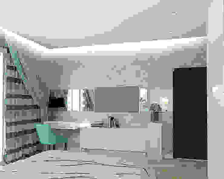 Квартира на Проспекте Мира Спальня в эклектичном стиле от ООО 'Студио-ТА' Эклектичный