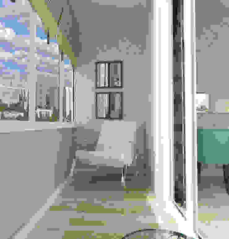 Квартира на Проспекте Мира Балконы и веранды в эклектичном стиле от ООО 'Студио-ТА' Эклектичный