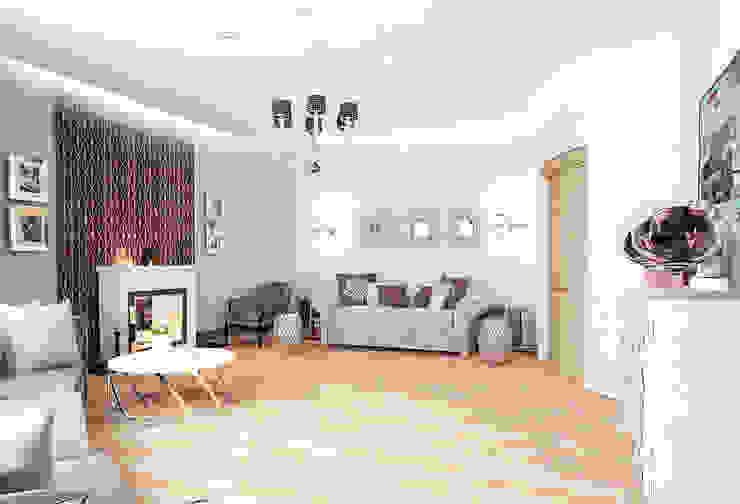 Квартира на Проспекте Мира Гостиные в эклектичном стиле от ООО 'Студио-ТА' Эклектичный