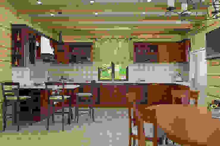 Дизайн-проект деревянного дома Кухня в рустикальном стиле от Студия дизайна и декора Светланы Фрунзе Рустикальный
