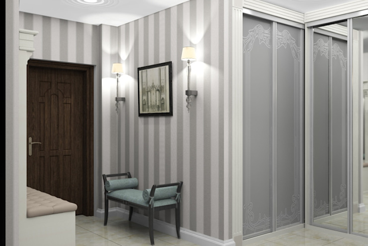 Дизайн-проект квартиры в классическом стиле Коридор, прихожая и лестница в классическом стиле от Студия дизайна и декора Светланы Фрунзе Классический
