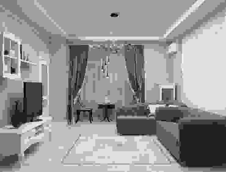 Дизайн-проект квартиры в классическом стиле: Гостиная в . Автор – Студия дизайна и декора Светланы Фрунзе, Классический