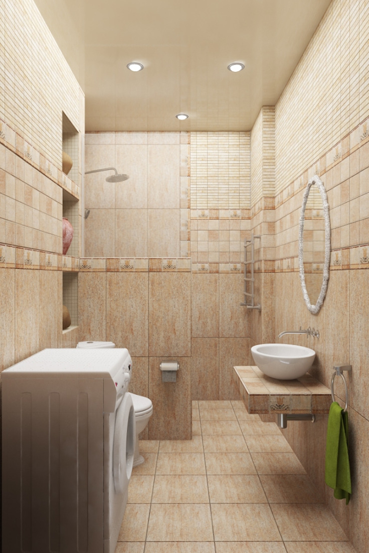 Дизайн-проект квартиры в классическом стиле Ванная в классическом стиле от Студия дизайна и декора Светланы Фрунзе Классический
