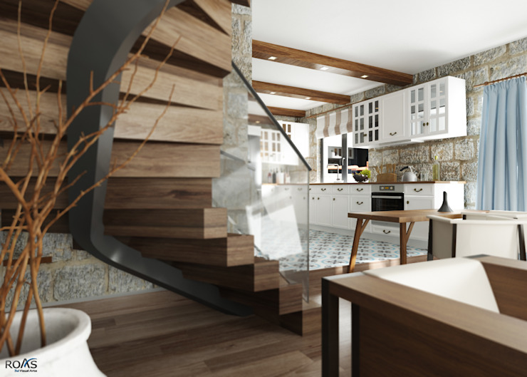ROAS ARCHITECTURE 3D DESIGN AGENCY Salones modernos