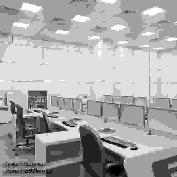 Диспетчерский центр Аэропорты в стиле минимализм от Андреев Александр Минимализм