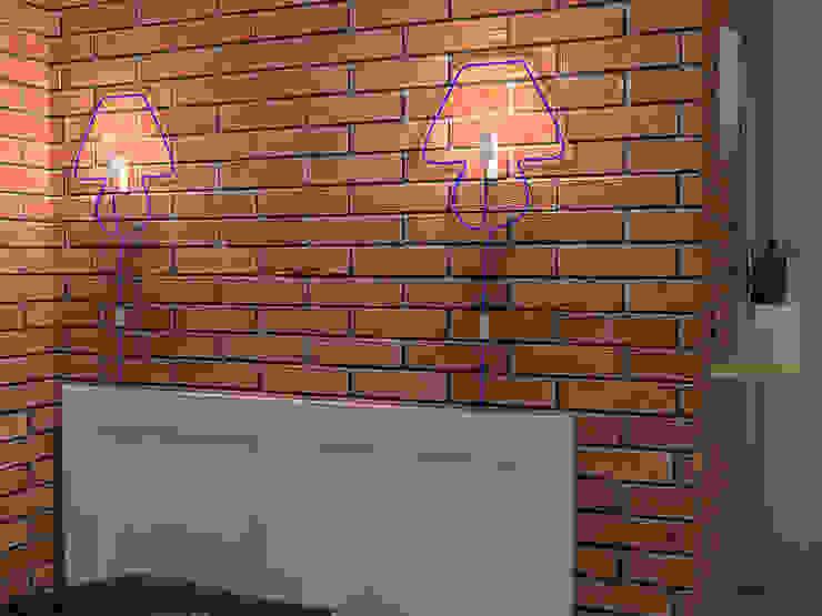 Квартира-студия в скандинавском стиле Спальня в скандинавском стиле от Студия дизайна и декора Светланы Фрунзе Скандинавский