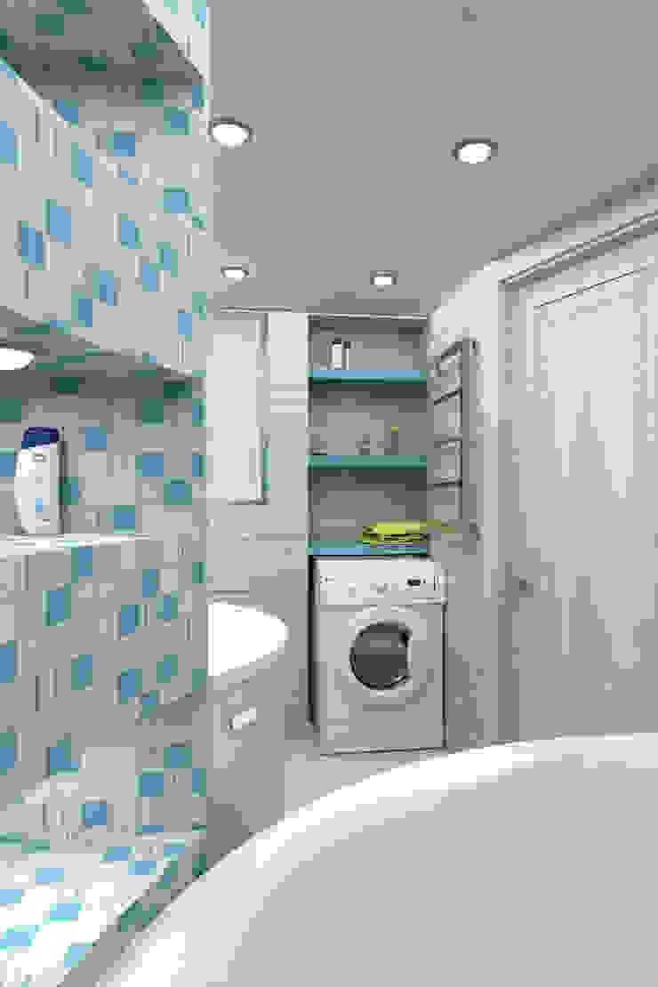Мансардная квартира Ванная комната в стиле модерн от Студия дизайна и декора Светланы Фрунзе Модерн