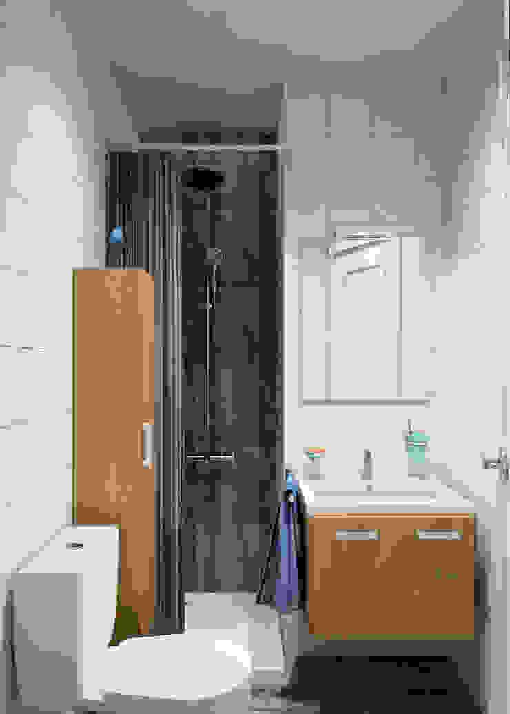 Квартира-студия в скандинавском стиле Ванная комната в скандинавском стиле от Студия дизайна и декора Светланы Фрунзе Скандинавский