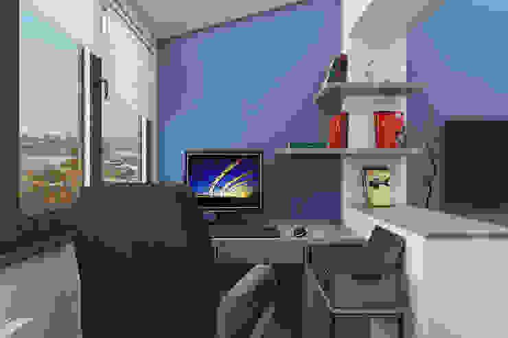 Мансардная квартира Рабочий кабинет в стиле модерн от Студия дизайна и декора Светланы Фрунзе Модерн
