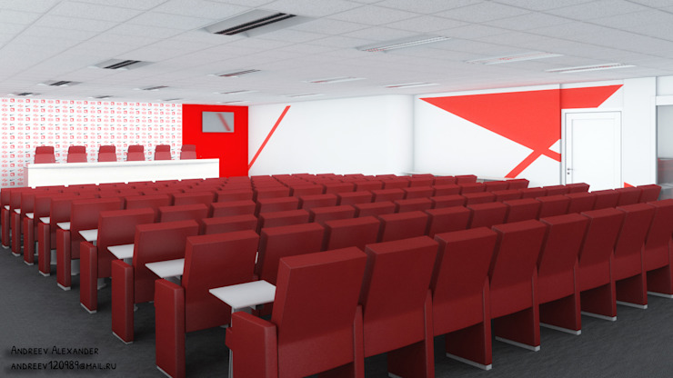 Пресс центр на стадионе Конференц-центры в стиле лофт от Андреев Александр Лофт