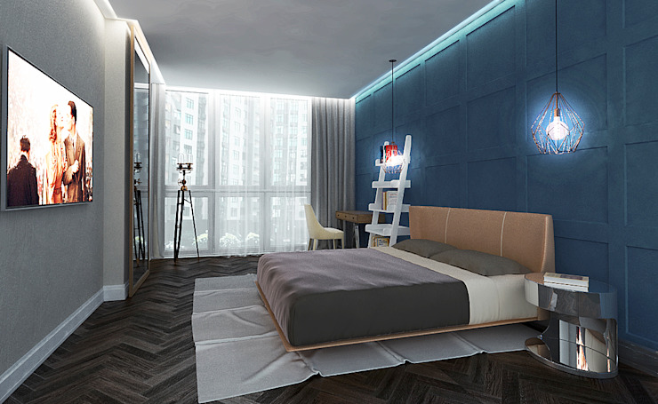 Eclectic style bedroom by INCUBE Алексея Щербачёва Eclectic
