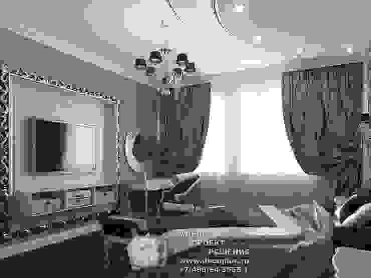 ТВ-зона и туалетный столик в спальне Спальня в стиле модерн от Бюро домашних интерьеров Модерн