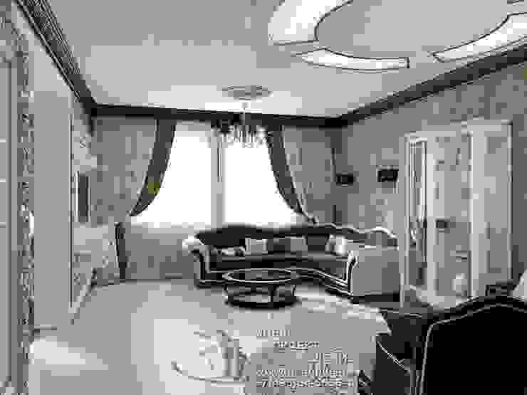 Интерьер кофейной гостиной в стиле модерн Гостиная в стиле модерн от Бюро домашних интерьеров Модерн