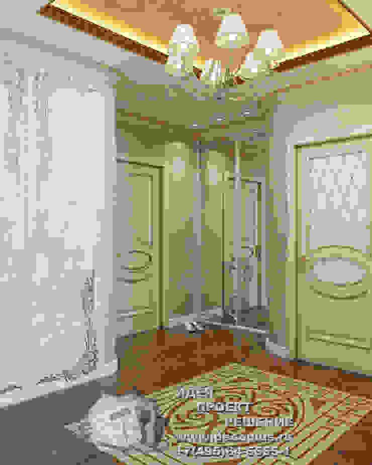 Дизайн бежево-коричневой прихожей Коридор, прихожая и лестница в модерн стиле от Бюро домашних интерьеров Модерн