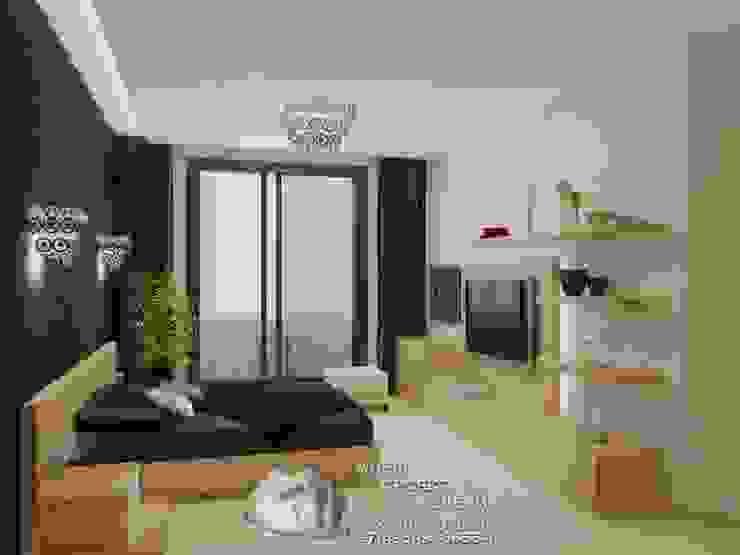 Фото интерьера спальни в квартире Бюро домашних интерьеров Спальня в стиле минимализм