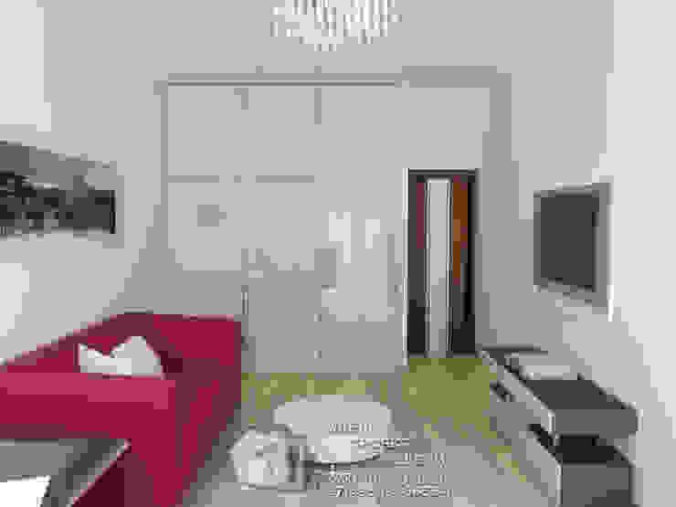 Фото интерьера кабинета в квартире Бюро домашних интерьеров Рабочий кабинет в стиле минимализм