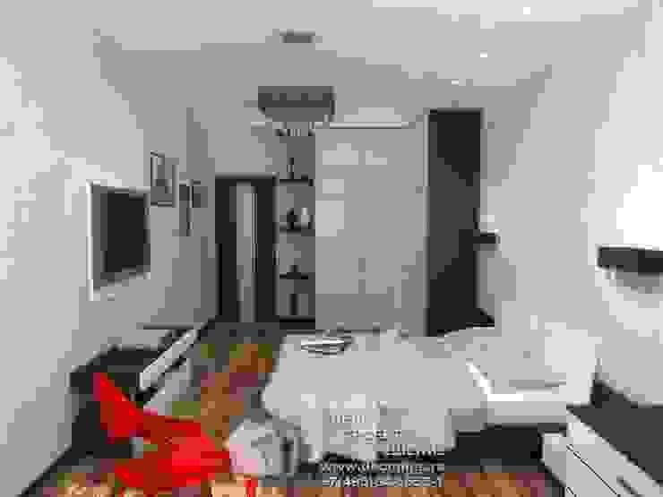 Фото интерьера спальни в квартире Спальня в стиле минимализм от Бюро домашних интерьеров Минимализм