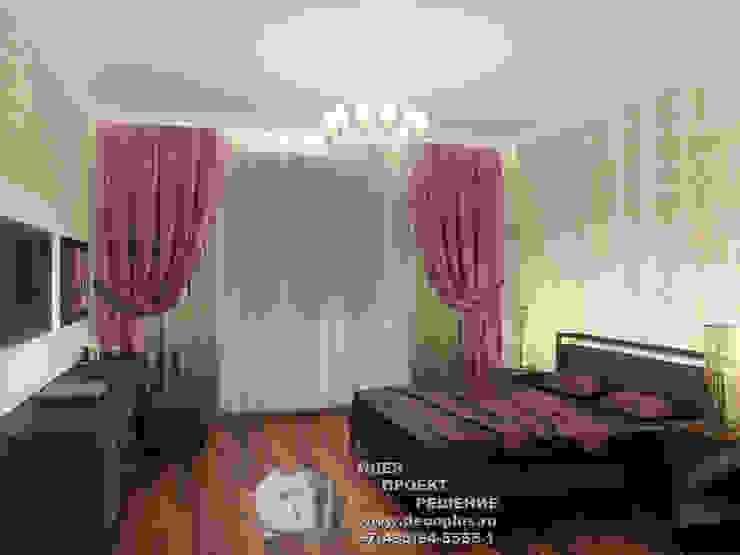 Фото интерьера спальни Бюро домашних интерьеров Спальня в стиле минимализм