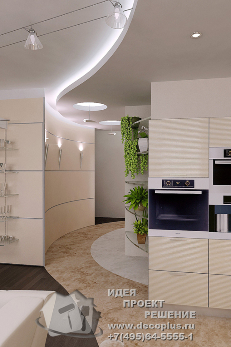Подвесной потолок в интерьере коридора Бюро домашних интерьеров Коридор, прихожая и лестница в стиле минимализм