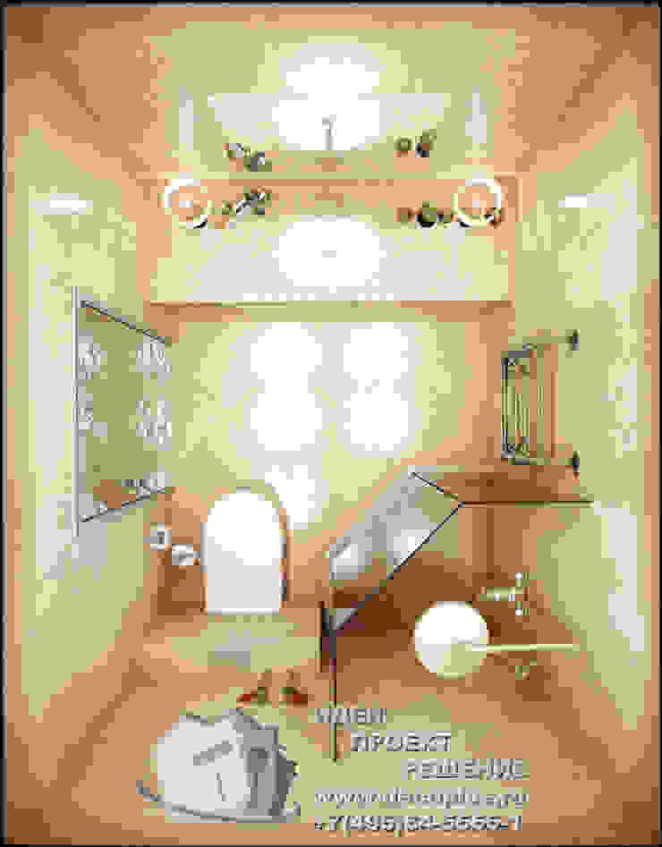 Дизайн-проект интерьера современного санузла Ванная комната в эклектичном стиле от Бюро домашних интерьеров Эклектичный