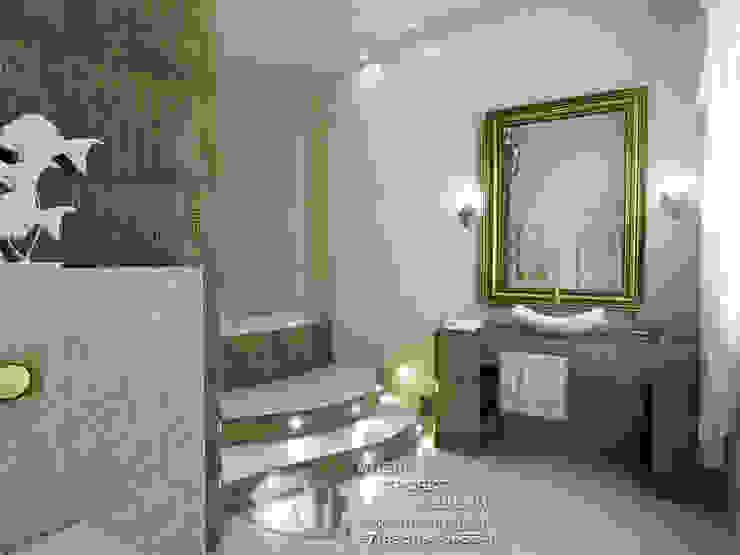 Бронзовые акценты в интерьере ванной Ванная комната в эклектичном стиле от Бюро домашних интерьеров Эклектичный