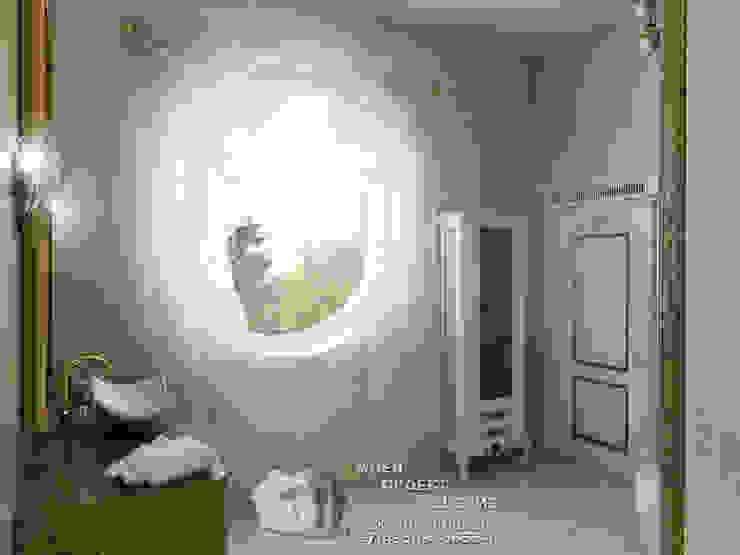 Изящное круглое окно с полупрозрачной занавеской: Окна в . Автор – Бюро домашних интерьеров