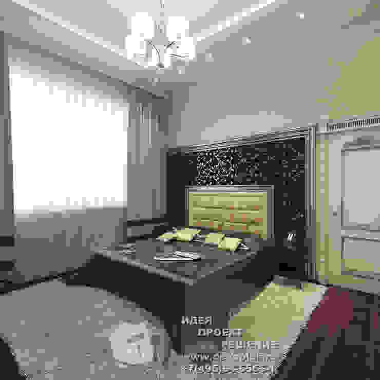 Элементы арт-деко в интерьере спальни Спальня в эклектичном стиле от Бюро домашних интерьеров Эклектичный