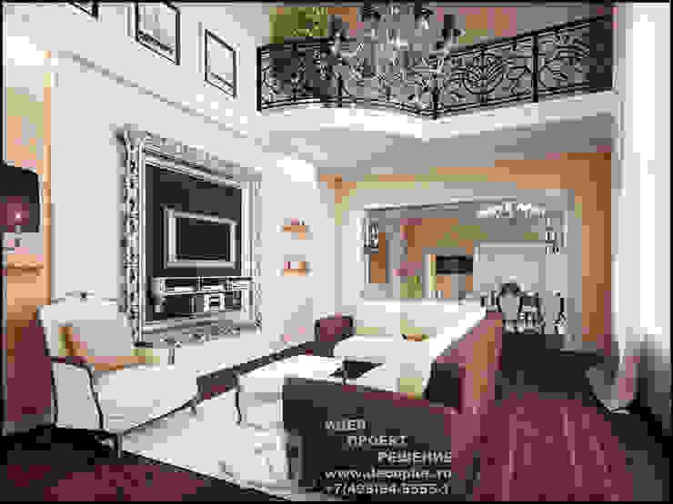Бежево-коричневая гостиная с элементами модерна Гостиные в эклектичном стиле от Бюро домашних интерьеров Эклектичный