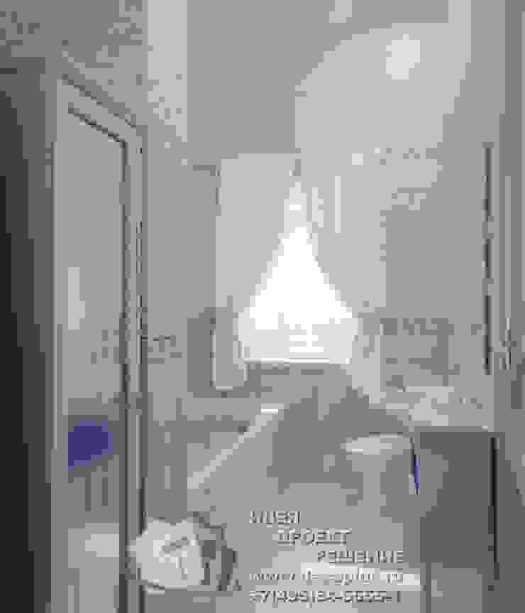 Прохладные оттенки в интерьере ванной Ванная комната в стиле кантри от Бюро домашних интерьеров Кантри