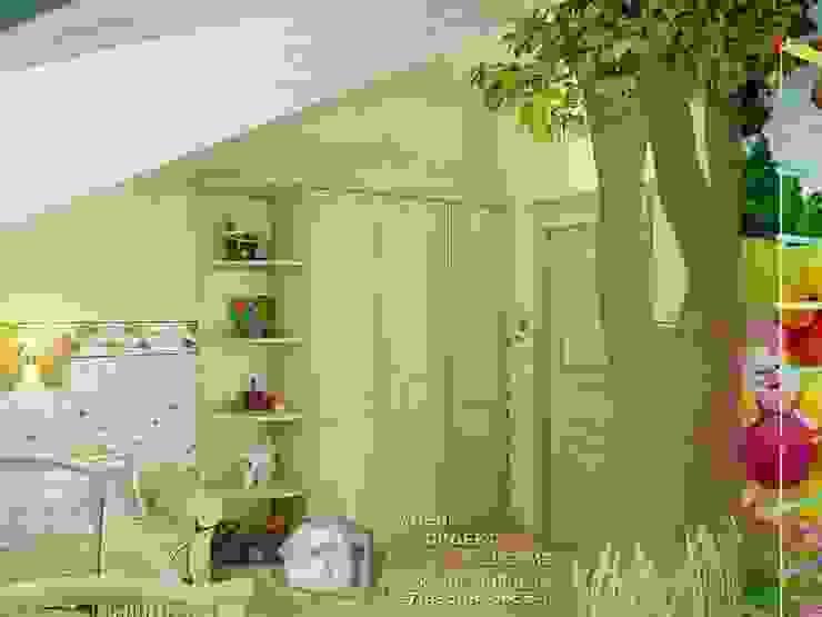 Веселая детская с мультипликационными героями Детская комнатa в стиле кантри от Бюро домашних интерьеров Кантри