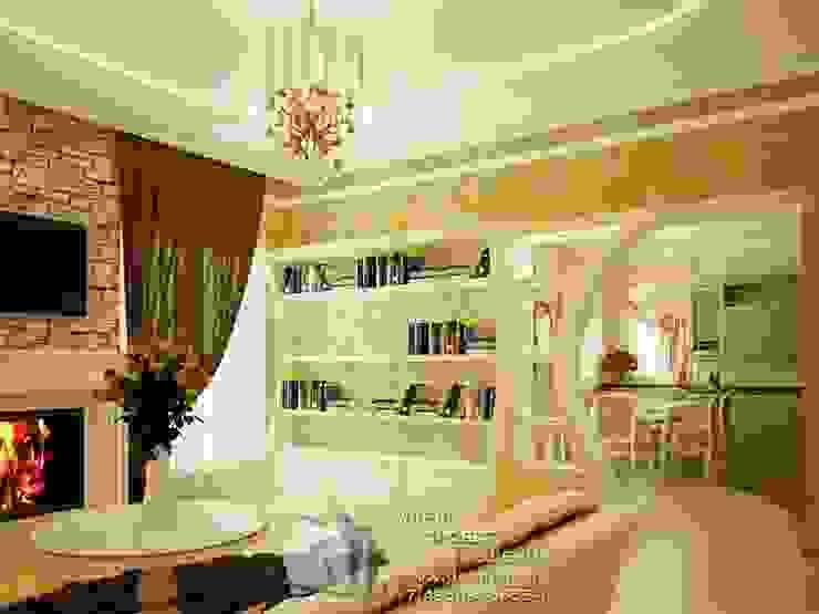 Фото интерьера гостиной в стиле прованс Гостиная в стиле кантри от Бюро домашних интерьеров Кантри