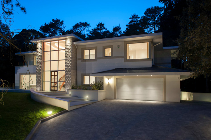 Bingham Avenue, Evening Hill, Poole Klasik Evler David James Architects & Partners Ltd Klasik