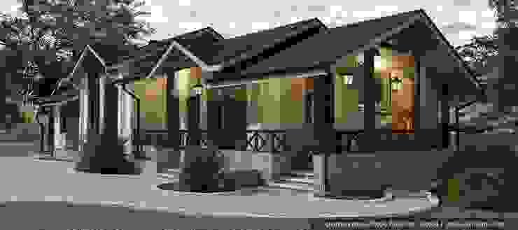 Проект одноэтажной бани из керамического блока porotherm от Архитектурное бюро Алексея Сухова Кантри