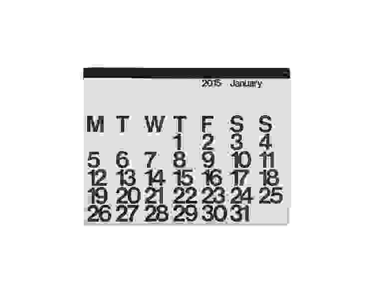 Stendig kalender: modern  door Kleuroptafel, Modern