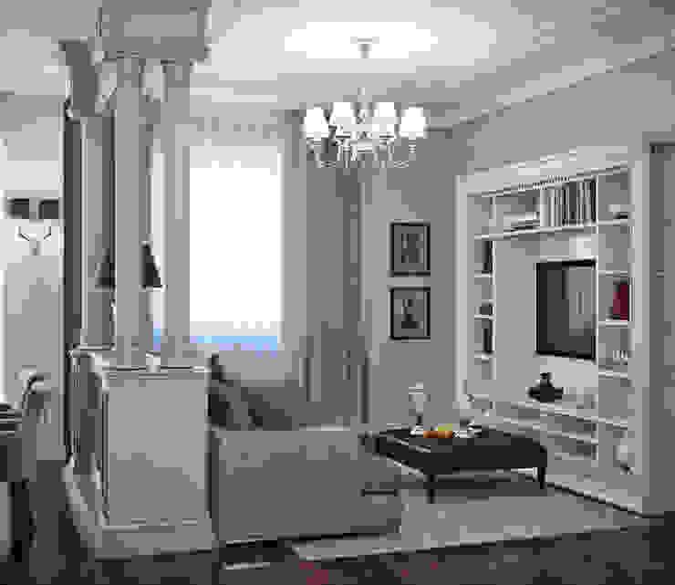 гостиная и спальня в элитной квартире, г.Казань, неоклассика Гостиная в классическом стиле от EJ Studio Классический