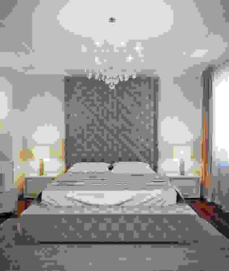 гостиная и спальня в элитной квартире, г.Казань, неоклассика Спальня в классическом стиле от EJ Studio Классический