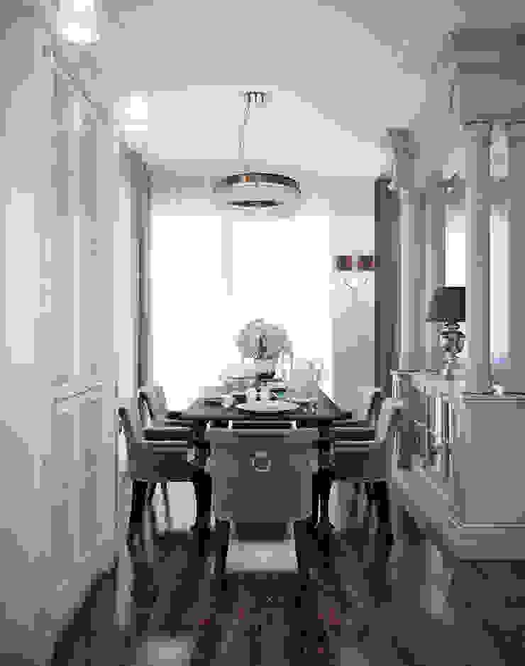 гостиная и спальня в элитной квартире, г.Казань, неоклассика Столовая комната в классическом стиле от EJ Studio Классический